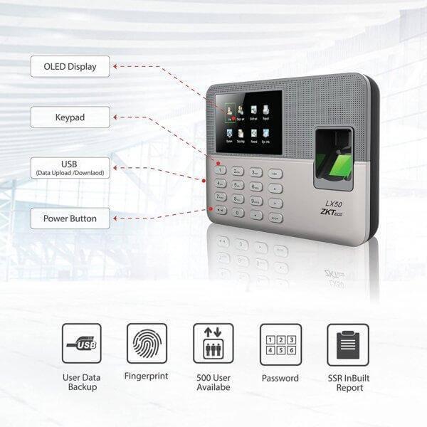 ZKTeco LX50 time attendance device